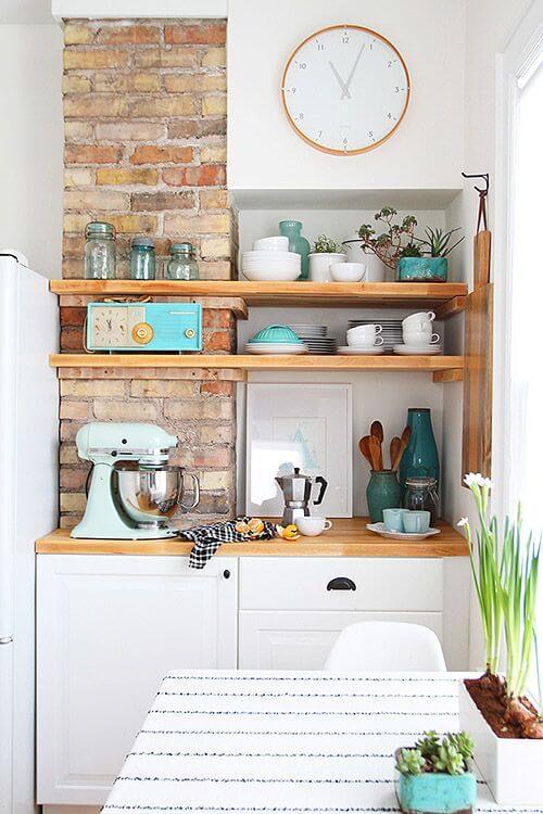 Como usar prateleira aberta na cozinha